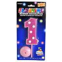 【アウトレット・ラッピング不可】【ファンシー雑貨】●フラッシングナンバーデコレーション(PINK)[370511]