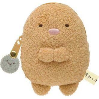 •-Plush coin purse (tonkatsu).
