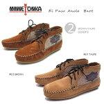 MINNETONKA【ミネトンカ】ELPASOANKLEBOOT/エルパソアンクルブーツ/エスニックな刺繍が入ったブーツ