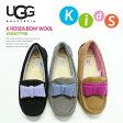 [◆新作◆続々入荷♪]UGG【アグ/アグー】]KIDS Rosea Bow Wool#1007779Kフェルトリボンムートンモカシン/KIDS/子供/BLK/CHE/GREY/キッズ/ムートン/ボア02P03Dec16