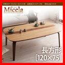 天然木オーク×ウォールナット材 北欧調こたつテーブル【Micela】ミセラ/長方形(120×75)/ 激安セール アウトレット価格 人気ランキング