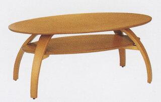 ナチュラルで使いやすさ抜群の楕円型リビングテーブル♪