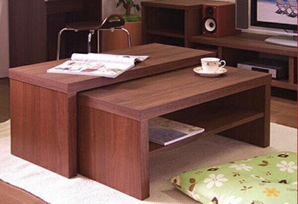 ネストテーブルローデスクローテーブルリビングテーブルパソコンテーブルデスクロータイプ伸縮木製完成品北欧ネストテーブルローデスク家具アウトレットセールダークブラウンナチュラル白ホワイト