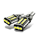車用 爆光 LED バックランプ T16 1000LM 高輝度 無極性 キャンセラー内蔵 15連2835 SMD LED 後退灯 バックアップ 6500K 2-BBKULUN