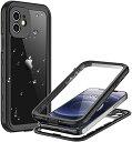 iPhone 12 ケース iPhone 12 防水 ケース 耐衝撃ケース iPhone12 フルカバー 360全面保護カバー 衝撃吸収 米軍MIL規格 軽量 ワイ...