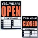 看板 店舗用 OPEN CLOSED 営業中とお休み中のサインボード オープン クローズ サインボード プラスチッ...
