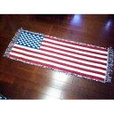 キッチンマット 星条旗柄 45×120cm スタンダードホワイト ラグ...