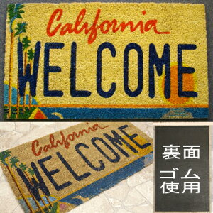 ココナツ玄関マット カリフォルニア ウェルカム/カリフォルニア ココマット/コイヤーマット アメリカン雑貨 アメ雑 アメリカ雑 玄関