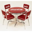 ★コカ・コーラ ローテーブル&チェアー フルセット(5点セット) アメリカンダイナー 椅子 チェアー カフェ アメリカン雑貨 アメリカ雑貨 ダイナー