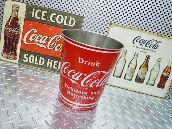 コカ・コーラ ダストボックス ゴミ箱 バケツ コカコーラグッズ ブランド coca-cola 西海岸風 インテリア アメリカン雑貨