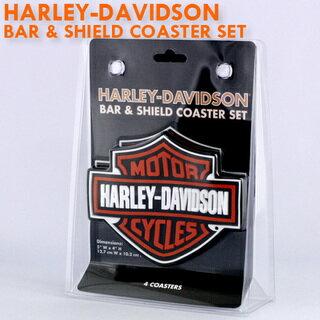 酒吧 & 鍵入 4 杯墊套盾。 Harley Davidson B & S 橡膠杯墊設置 HDL 18515 ★ 杯墊酒吧美國摩托車自行車