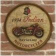 アメリカンウッドサイン 大型バイク Indian MOTORCYCLE 1934年式 インディアン・モトサイクル 木製看板 アメリカ看板 看板
