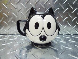 菲利克斯貓菲力克斯貓臉菲力克斯玩具咖啡保溫杯杯子瓷咖啡杯子