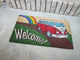 Coco-mat coconut door mat Volkswagen welcome (red) / mat Colyer