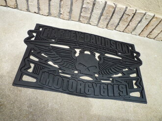 ★ Harley-Davidson ★ Harley-Davidson / winged SCAL rubber mats ★ garage mats ★ door mats ★ floor mats