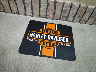 Mat doorstep garage mat mat for Harley-Davidson bar & シ - ルドユーティリティラバーマット cars