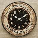 40cmのビッグサイズ時計 レトロ調 アンティークエンボス クロック STANDARD TIME 2 壁掛け時計 時計 アメ雑貨 看板 西海岸風 インテリア アメリカン雑貨