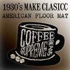 ハワイアンモチーフマットコーヒーカップ【COFFEECUP】フロアマット玄関マットバスマットおしゃれマット丸洗いコーヒーハワイアメリカン雑貨アメリカ雑貨ハワイ