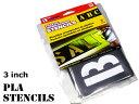 HANSON社 プラスチック・ステンシルプレート(3インチ)ステンシル フォント DIY 46ピース英数字セット ...