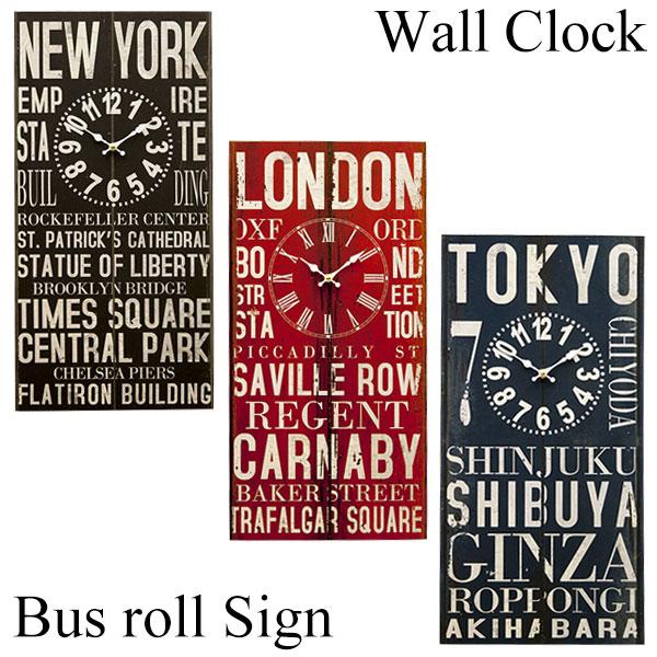 アンティーク クロック バスロールサイン 壁掛け時計 60cm レトロ調 西海岸風 インテリア アメリカン雑貨
