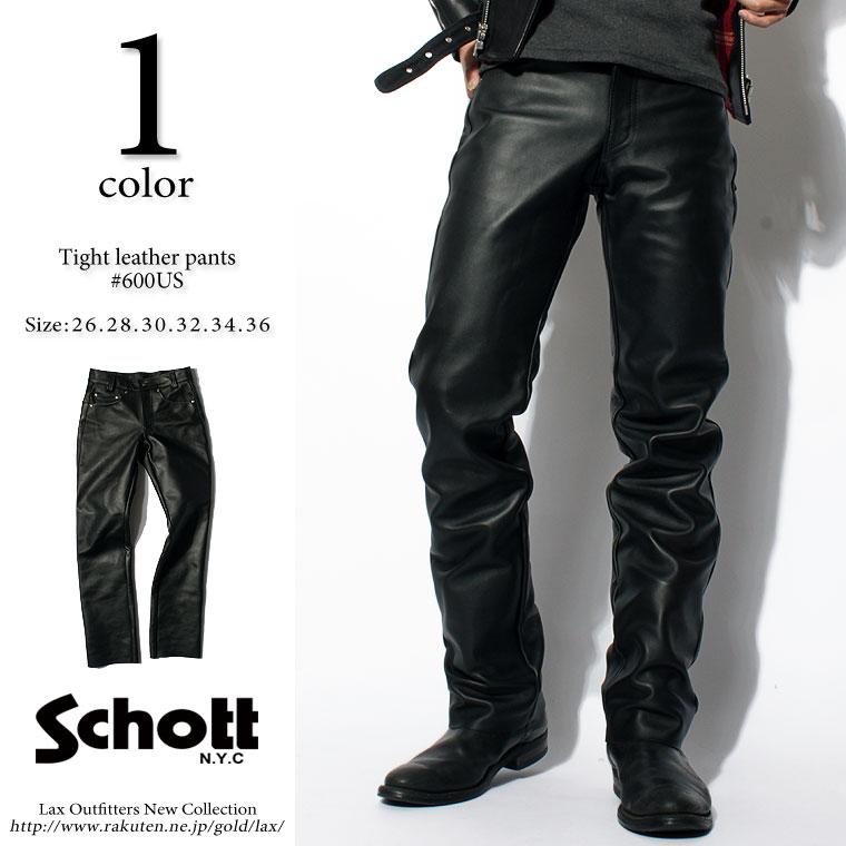 【プレウインターセール開催中】 Schott ショット レザーパンツ 600us 【SALE 返品・交換不可】
