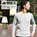 【12時間限定】無条件20%OFFクーポン配布中!AVIREX アビレックス ワッフルVネック Tシャツ 6183496 【SALE 返品・交換不可】