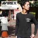 【12時間限定】無条件20%OFFクーポン配布中!AVIREX アビレックス ビッグワッフル L/S Tシャツ 6183497 【SALE 返品・交換不可】