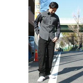 KOJIMAGENES児島ジーンズRNB-280デニムxコットンダック切り替え長袖ワークシャツ