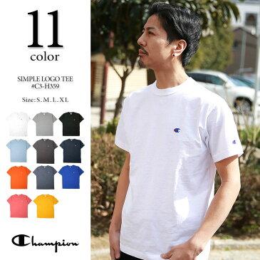 最大20%OFFクーポン対象★チャンピオン Tシャツ CHAMPION T-SHIRTS メンズ 日本モデル champion t-shirts 無地 ワンポイント ロゴ 半袖 tシャツ C3-H359 【SALE 返品・交換不可】