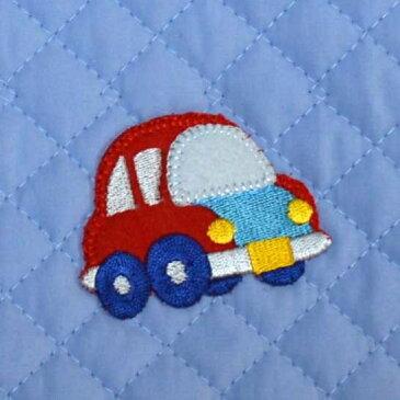 【サイズ変更可】【オーダー】レッスンバッグ ブルー 自動車 キルティング 通園バッグ 通学バッグ 幼稚園バッグ 子供用バッグ 入園入学 手さげ袋 ハンドメイド