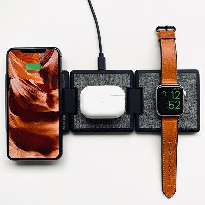 ORIPA オリパ ワイヤレス充電器 iPhone Apple Watch 充電器 Qi 充電器 ワイヤレス 急速 充電 1台で3台充電可能 デスクの上をスマート&おしゃれに プレゼント 送料無料・・・ 画像2