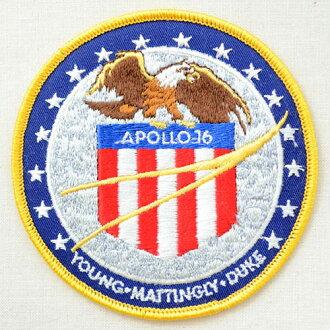徽章阿波羅16號徽章Apollo 16(沒有宇宙/糨糊)AS101熨斗附飾物補丁拉丁字母徽章名字軍事車迪士尼徽章