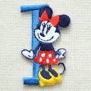 アルファベットワッペン ディズニー ミニーマウス(I/ブルー...