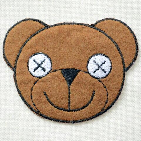 ワッペン ミスタービーン テディベア(くま) Mr.Bean Bear LJW-067 アイロン アップリケ パッチ アルファベット エンブレム 名前 ミリタリー 車 ディズニー ワッペン