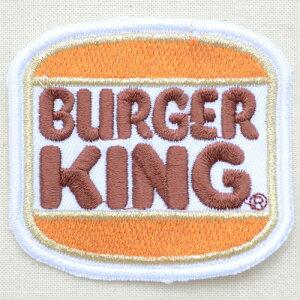 アイロンで簡単接着!気軽にデコレーション&リメイク☆ロゴワッペン Burger King バーガーキン...