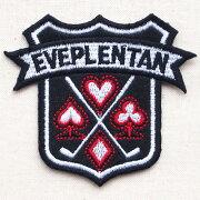 エンブレム ワッペン Eveplentan トランプ ブローチ ブランド アップリケ ブレザー アルファベット ミリタリー アメリカ アイロン おしゃれ