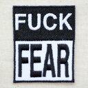 ワッペン ファックフィア Fuck Fear W247 アイロン アッ...