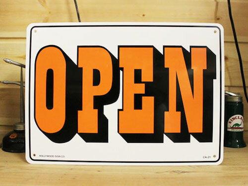 看板/プラスチックサインボード オープン/クローズド Open/Closed(両面プリント) CA-21 *メール便不可 木製 ガレージ 庭 メッセージ 什器 店舗什器 アメリカ雑貨 アンティーク ボード ロード アメリカ