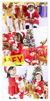 【ゆうパケット送料無料】サンタコスチュームベビー・キッズ大人気!今年も新登場帽子、小物付き80cm90cm100cm110cm120cm130cmコスプレ子供服衣装女の子男の子着ぐるみサンタクロースクリスマス【おすすめ】