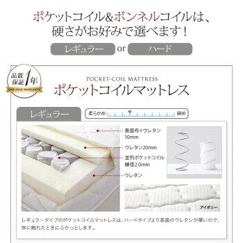 コンセント付き収納ベッド【Else】エルゼ【ボンネルコイルマットレス:レギュラー付き】クイーンサイズクイーンベッドクイーンベットマットレス付きクィーン