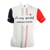 ルコック スポルティフ(Lecoq Sportif) 半袖ジャージ レディース 女性用 自転車 ウェア QC-746471 WHT (Lady's)
