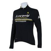 ルコック スポルティフ(Lecoq Sportif) ドゥースモードコンフォートジャージ レディース 女性 長袖ジャージ 自転車ウエア QC-845763 BLK ブラック (Lady's)