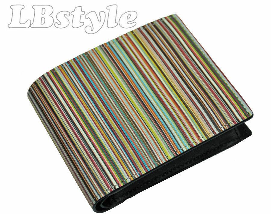 a99b311a4f81 paulsmith ポールスミスの牛革マルチストライプの二つ折り財布です。 色?柄?素材などポール?スミスらしい遊び心が感じられるデザインです。