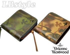 ■viviennewestwoodヴィヴィアン・ウエストウッド財布プリント牛革ファスナー二つ折り財布ヴィヴィアン900-0396
