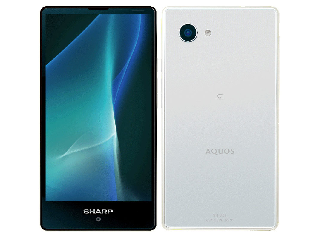 SH-M03-WH/白ロム/AQUOS mini/シャープ(SHARP)/格安スマホ/スマートフォン/携帯電話/SIMフリー/...