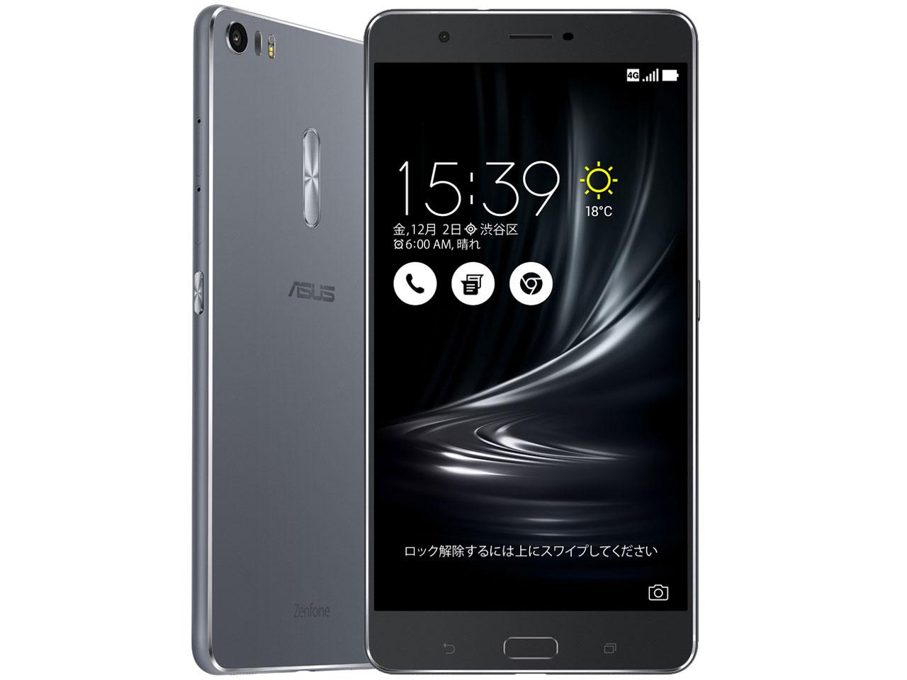 ZenFone 3 Ultra ZU680KL-GY32S4 SIMフリー [グレー] 白ロム 格安スマホ 携帯電話 スマートフォン本体:らいぶshop