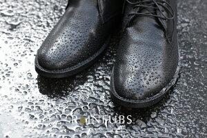 【RAINFUBSレインファブス】チャッカ型レインブーツ/PLUBOプルーヴォ/メンズ/25〜27cm/ビジネスシューズ/レインシューズ/完全防水/靴擦れ防止/疲れにくい/梅雨/通勤/長靴/フォーマル/男性用/人気/おしゃれ/めざましテレビ
