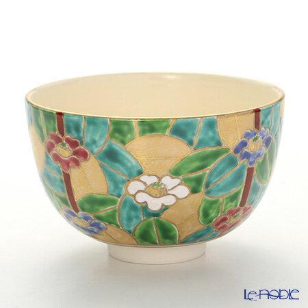 京焼・清水焼 抹茶碗 K0006 金彩椿 敬老の日ギフト 京都 和食器 お茶碗 お祝い 引き出物 結婚祝い