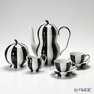 【送料無料】アウガルテン(AUGARTEN) メロンブラック&ホワイト(7027) 2人用 コーヒー5点セット...