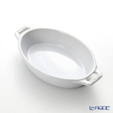 ストウブ(staub)オーバルディッシュ(セラミック製)17cm/0.4Lホワイト